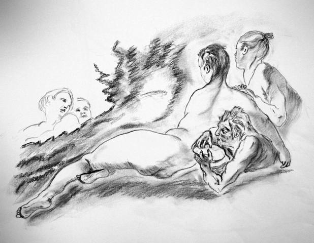 naades et tritons, d` après François Boucher