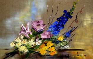 gerbe de fleurs et émotion